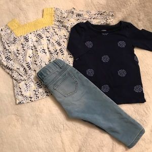 Old Navy tops with Cat & Jack jeans.
